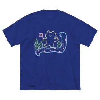 チンアナゴに乗ってGO Big silhouette T-shirts
