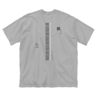 コードNo (両面) Big silhouette T-shirts