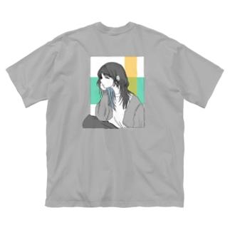 いいかんじ Big silhouette T-shirts