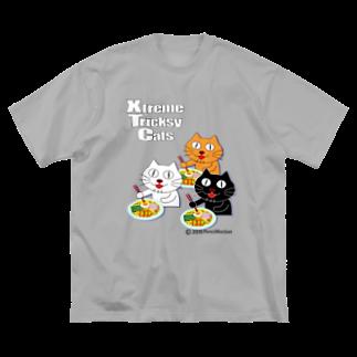 ネコ兄弟のネコ兄弟 tXTC_46 Big silhouette T-shirts