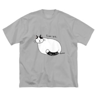 ほっかむねこ屋のおおきなねこ Big silhouette T-shirts