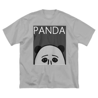 PANDA(グレイ) Big silhouette T-shirts