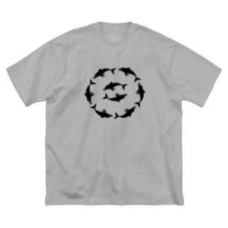 いるかあかるい Big silhouette T-shirts