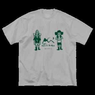 ふじみ屋 fujimi-ya のナチュラル兄弟。 Big silhouette T-shirts