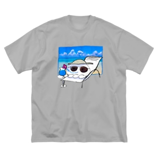 夢のバカンスくらげ Big silhouette T-shirts