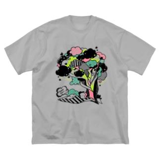 ピクニックな食パンちゃん Big Silhouette T-Shirt