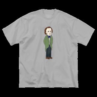 ミナミハチゴーのショパン Big silhouette T-shirts