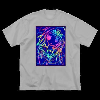 ちるまの店の彼女 Big silhouette T-shirts