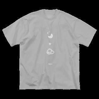 みずしままゆこのムーンなうさちゃん Big silhouette T-shirts