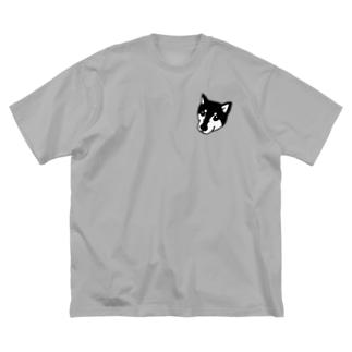 黒柴のたいが Big silhouette T-shirts
