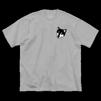 いんでないかいストアの黒柴のたいが Big silhouette T-shirts