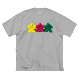 new スリー・ミープルズ(横) Big silhouette T-shirts