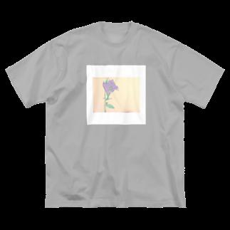 せいせんのキキョウ Big silhouette T-shirts