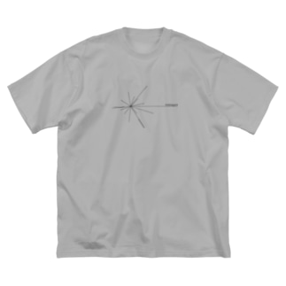 Voyager ロゴ(黒) Big silhouette T-shirts