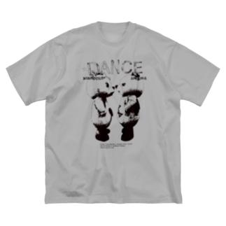 DANCE black Big silhouette T-shirts
