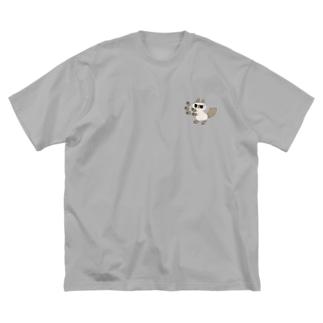 両面ニャババあずきさん Big silhouette T-shirts