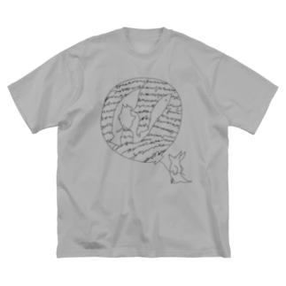 お魚について Big silhouette T-shirts
