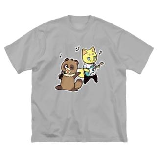 ムク&山椒の楽しい音楽 Big silhouette T-shirts