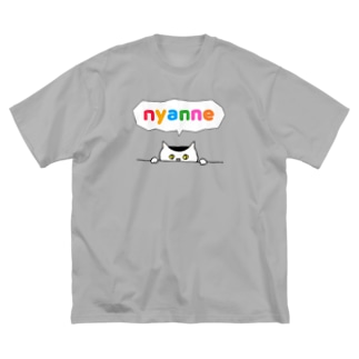 nyanne  Big silhouette T-shirts