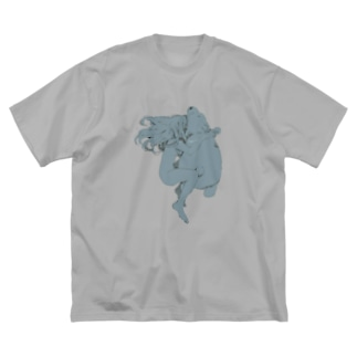 夢想ちゃん Big silhouette T-shirts