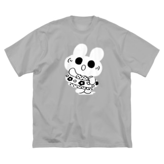 水着うさぎ Big silhouette T-shirts