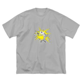 マニ車を回す魚 Big silhouette T-shirts