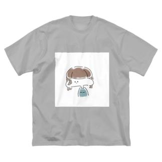 らくがきちゃん Big silhouette T-shirts