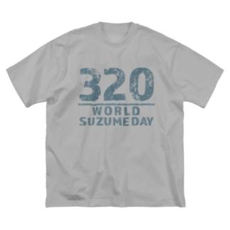 SUZUME DAY 320 Big silhouette T-shirts