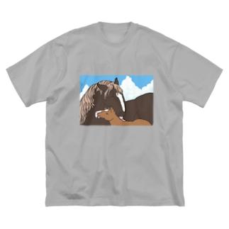 優しいおかさんとぼく Big Silhouette T-Shirt