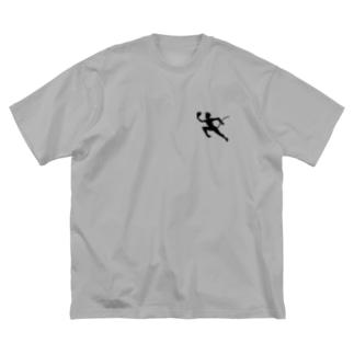 赤い悪魔(Roter Teufel) Big silhouette T-shirts