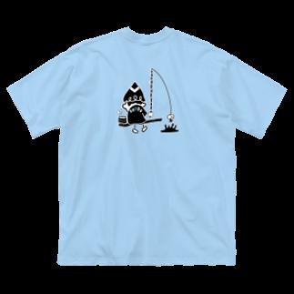 nuppuのtsubomi 今日のお魚釣り Big silhouette T-shirts