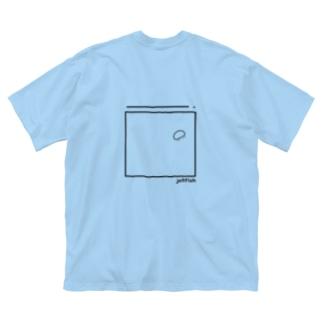 クラゲ Big silhouette T-shirts