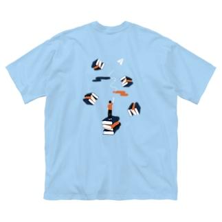 どうか後世に受け継いで。 Big silhouette T-shirts