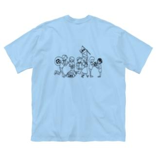 UPA method BLACK Big silhouette T-shirts