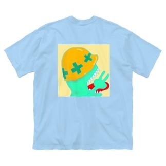 たたいてかぶってじゃんけんぽん Big silhouette T-shirts