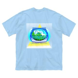 🗻Blue Mountain🗻 Big silhouette T-shirts