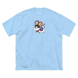 犬張子ちゃん Big silhouette T-shirts