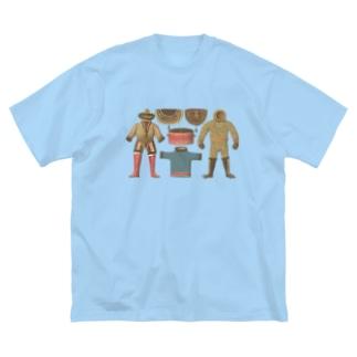 エスキモーの暮らし<アンティーク・イラスト> Big silhouette T-shirts