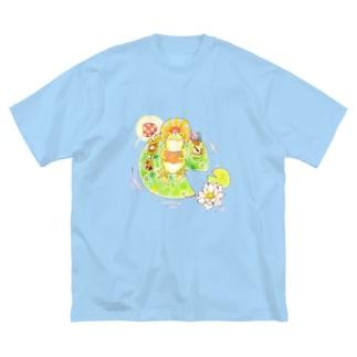 かえるくんのお気に入り Big silhouette T-shirts