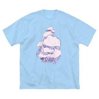 かさなる Big silhouette T-shirts