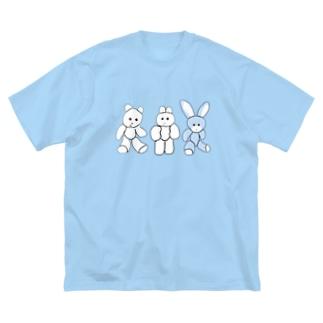 くまきち・きんたろう・うさじ描いたよ Big silhouette T-shirts