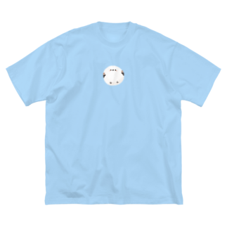 Myo's handmadeのいっぴきシマエナガ Big silhouette T-shirts