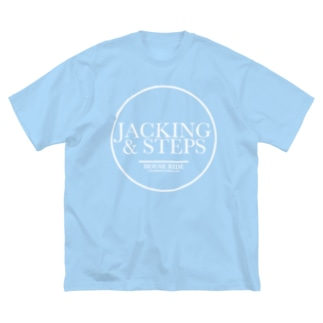 HOUSE DANCE MANIAのJACKING&STEPS-RING Big silhouette T-shirts