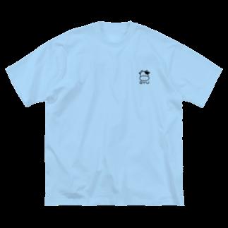 つっこみ処のぎゅう、黒 Big silhouette T-shirts