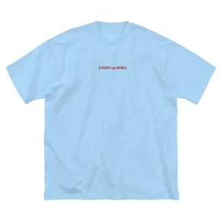 うどんかそば Big silhouette T-shirts