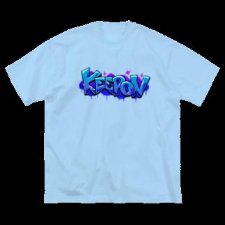 Slow TypingのKEEP ON キープオン 002 Big silhouette T-shirts