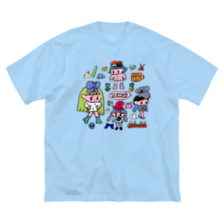 モニョチタポミチのnemui Big silhouette T-shirts