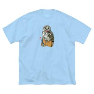 ウラルフクロウ Big silhouette T-shirts