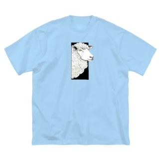 ヒツジ Big silhouette T-shirts