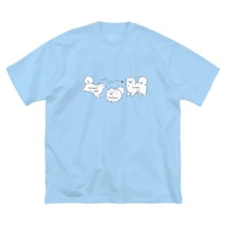 もふもふわんず(カラーVer.) Big silhouette T-shirts